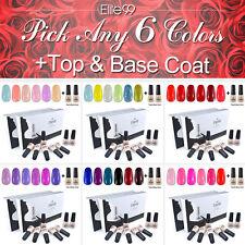 8PCS Any 6 Colours + Top Base Coat Soak Off Gel Nail Polish Manicure Gift Set