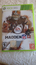 Madden NFL 12 XBOX 360 Video Game E Everyone