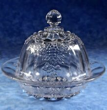 Indiana EAPG Paneled DARLING GRAPE Round Covered Butter Dish