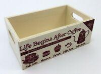 Vintage Coffee Storage Box Wood Crate Pod Storage Container Organizer Small Mini