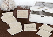 COUNTRY LACE WISH CARDS FOR WEDDING WISHES- ALTERNATIVE GUEST BOOK