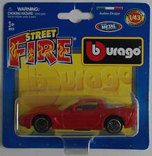 BBURAGO -'04/2004 Chevy Corvette rosso 1:43 Nuovo/Scatola Originale modello di auto