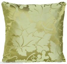 Green Cushion Cover Nina Campbell Silk Damask Fabric Wine Leafs Pillow Throw