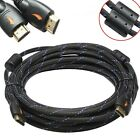 25FT GOLD HDMI v1.4 Cable w/Nylon Net Ferrite Cores 1080P 3D Ethernet HDTV DVD