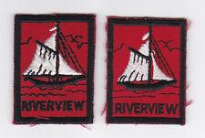 SCOUTS OF CANADA -  CANADIAN SCOUT QUEBEC RIVERVIEW DISTRICT Patch (2 VAR)