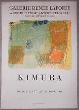 AFFICHE EXPO Galerie Renée Laporte KIMURA Antibes LITHO 1969