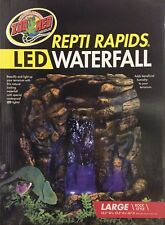 "ZOO MED Repti Rapids LED Waterfall Reptile large rock style 15.5""x12.5""x16""RR-25"
