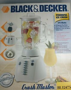 Black & Decker BL12475G Crush Master White Blender 12-speed Ice Crusher
