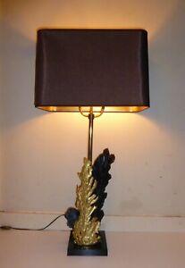 "PHILLIPPE CHERVERNEY MID CENTURY VINTAGE BRONZE RESIN ORGANIC LAMP 37"" FRENCH"