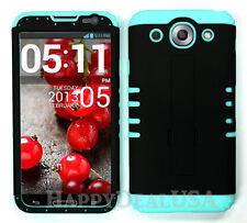 KoolKase Hybrid Silicone Cover Case for LG Optimus G Pro E980 - BLACK (R)