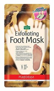 Exfoliating Foot Mask Sock Type- Peel Away Calluses & Dead Skin Cells Size Large