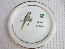 vintage Porcelana Schmidt pottery Brazil 500 Anos souvenir small plate Brasil