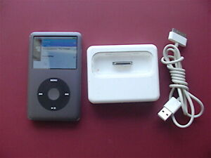 iPod Classic 160GB 7th Gen Gray Bundled With Dock & USB Cable_Tested Good