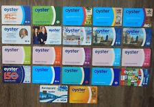 LOT OF 22 DIFFERENT OYSTER CARDS -TUBE & NETWORK RAIL LOGO - OLD, collectible
