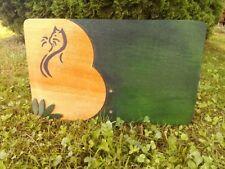 Lapide targa commemorativa per gatti in legno impregnato