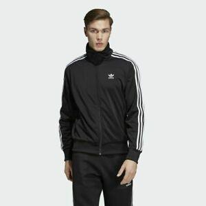 Adidas Original Firebird Herren Trainingsanzug Kompletter Anzug Schwarz mit Weiß