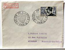 Yt 982 MARECHAL DE LATTRE DE TASSIGNY   OBLI 1° JOUR 1954 FDC FRANCE ENVELOPPE