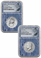 2019 S Apollo 11 Clad Half Dollar Enhanced Set NGC PF70 FDI Moon Core SKU56551
