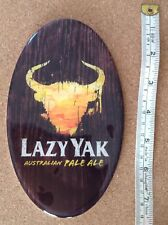 Lazy Yak Oval Beer Tap Badge, Decal, Top