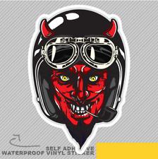 Diable avec Noir Casque Rouge conducteur Vinyle Sticker Autocollant Fenêtre Voiture Van Vélo 2461