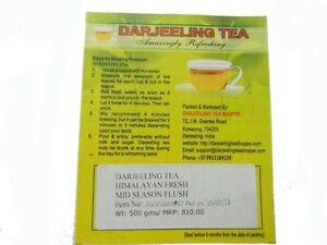 Darjeeling Tea (SECOND FLUSH 2020) EARL GREY GREEN TEA 500 Gms