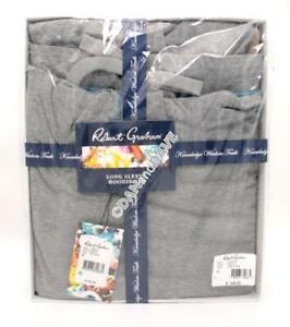 Robert Graham Long Sleeve Hoodie Set Grey Sz M $140