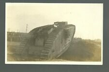 Cedar Rapids IOWA RP 1918 ARMY TANK at SWINE EXPOSITION British BRITTANIA WW1