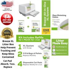 Purina Cat Tidy XL Litter Box System Starter Kit Cats Breeze Clean Non-Clumping