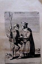 Sebastiano Ricci engraving 1799 figure 37 fine laid paper rare very old