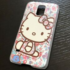 For Samsung Galaxy S5 - HARD BACK PROTECTOR CASE COVER PINK FLOWER HELLO KITTY