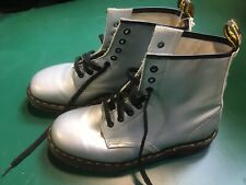 Dr Martens, Boots, Leather, Silver, Size 6, Excellent Condition, Christmas