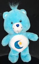 "Care Bear 13"" 2002 Plush BEDTIME BEAR Blue Moon~Stars"