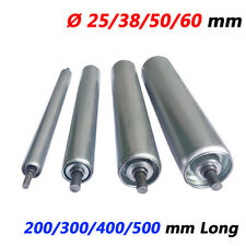 Dia 25/38/50/60 mm Industrial Conveyor Rollers 200/300/400/500mm Long Galvanized
