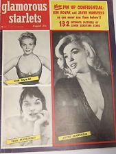 Rare GLAMOROUS STARLETS MAGAZINE Aug 1956 * JAYNE MANSFIELD 19 PGS * KIM NOVAK