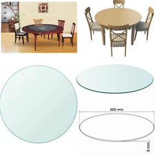 Tempered Glass Table Top Dining Coffee Table Protector 600MM Shape Round