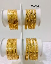 Gold Plated Kada Bangles Kids Girls Size Baby Wear Bollywood Style 1-0 New Born