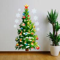 Christmas Tree Snowflake Removable Wall Window Sticker Vinyl Xmas Home Decor