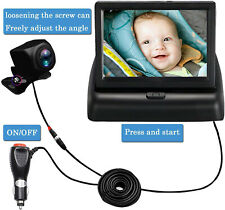 Car Rear Seat Wide View Baby Facing Infant Child Safety Monitor+back seat Camera