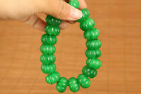 Collectable Jadeite Jade Handmade bracelet 19 piece buddha beads noble gift