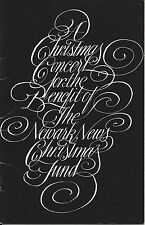 1969 Original Hand Signed, JEROME HINES Autograph Xmas Program, Operatic Singer