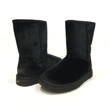 UGG CLASSIC SHORT II VELVET BOOTS BLACK -US SIZE 9 -NEW