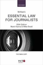 McNae's Essential Law for Journalists by Mark Hanna 9780198839835 | Brand New