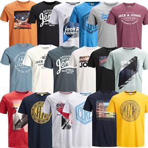Jack and Jones Herren T-Shirt kurzarm Print Rundhals Tee Sport Freizeit Club Neu