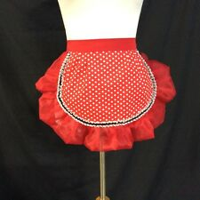 Minnie Mouse Red polka dotted apron, Valentine's Day gift for girlfriend