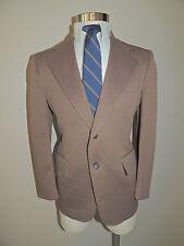 Vintage Mens Montgomery Ward Brown Check 2 Button 2 Piece Suit Size 39S
