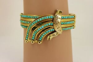Georgian / Victorian Gilt Turquoise Bangle Bracelet. NICE1