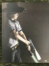 """The Walking Dead Signed Chandler Riggs Carl 16x20 Canvas """"Caution then Fire"""""""