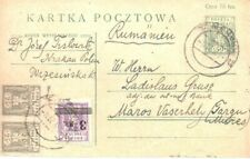 Poland 1921 Postcard to Romania used