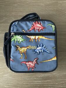Pottery Barn Kids Dinos Dinosaur Mackenzie Classic Lunch Box BEN Monogrammed