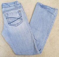 AEROPOSTALE Chelsea BOOT CUT Curvy Distressed Jeans Womens SZ 1/2 Short #397